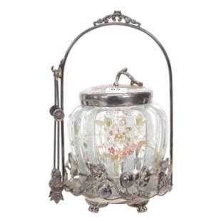 Victorian Pickle Castor, Mt. Washington Art Glass