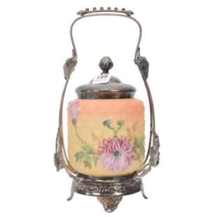 Victorian Pickle Castor, Burmese Color Art Glass