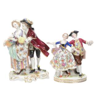 (2) Porcelain Courting Groups, Dresden Style