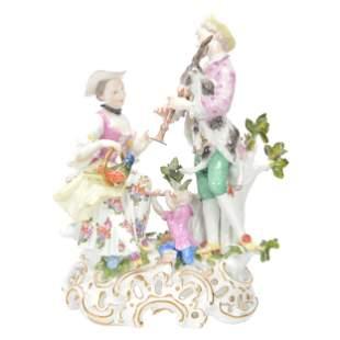 Original Porcelain Musical Group Marked Meissen N63