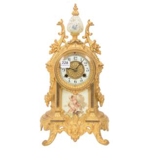 French Gilt Clock
