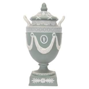 Covered Urn Marked Wedgwood