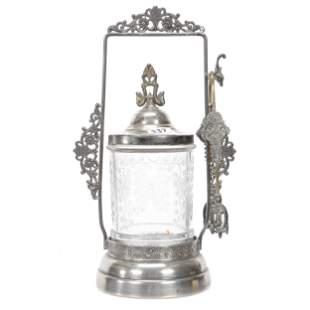 Victorian Pickle Castor, Pattern Glass Insert