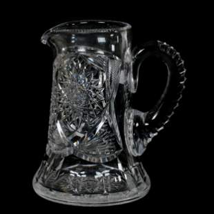 Water Pitcher, American Brilliant Cut Glass