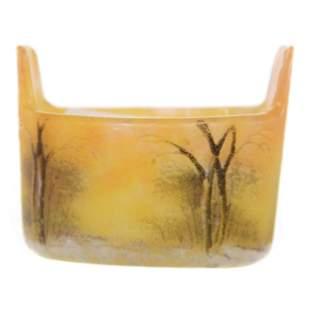 Salt Dip Signed Daum Nancy French Cameo Art Glass