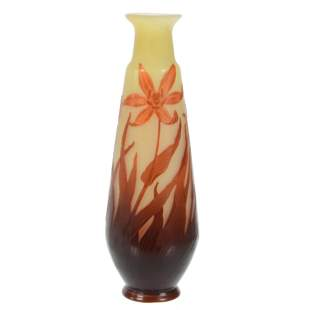 Vase Signed Galle French Cameo Art Glass