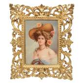 "Porcelain Portrait Plaque Marked ""KPM"""