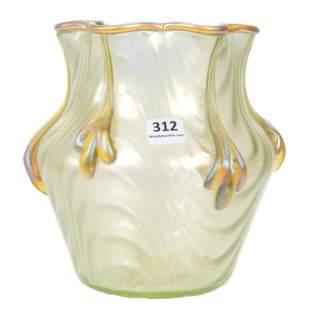 Vase, Unmarked Loetz Art Glass, Coppelia Pattern