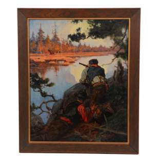 Original Oil On Canvas By Hy Hintermeister 1897-1972