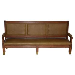 Solid Walnut Straight Back Bench.