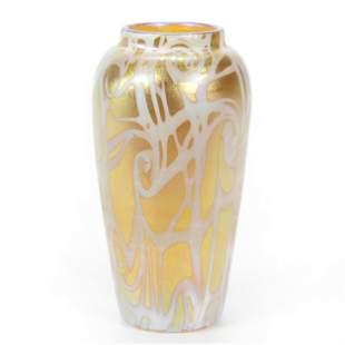"""Vase Signed """"Durand"""" Art Glass"""