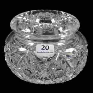 Powder Box, American Brilliant Cut Glass