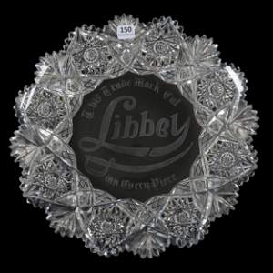Round Tray, ABCG, Advertising Libbey Glass