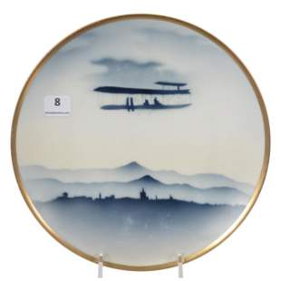 Plate Marked RS Germany, Rare Wright Brothers Decor