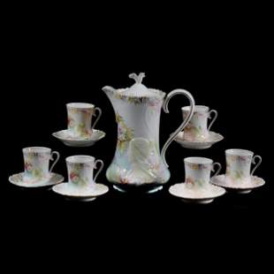 Chocolate Set Unmarked Prussia, Hidden Image