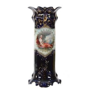 Vase Marked Crown Vienna, Double Scenic Decor