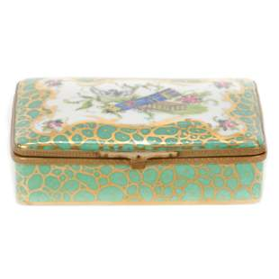 Hinged Box Marked Sevres Porcelain