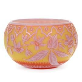 Bowl Signed Thomas Webb English Cameo Art Glass