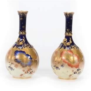 Pair Vases Marked Royal Crown Derby