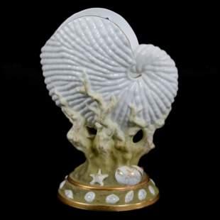 Figural Vase, Unmarked Worcester Style