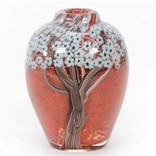 Paperweight Vase Signed Orient & Flume Art Glass