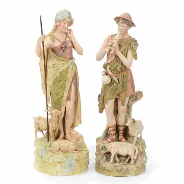 Pair Figures Marked Royal Dux
