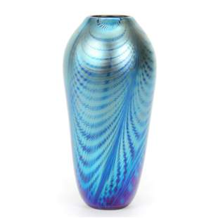 Vase, Contemporary Art Glass Dated 1988