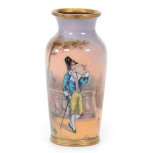 Vase, French Enamel