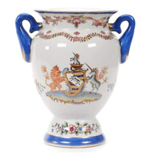Vase, Two Handles, Chinese Export Porcelain