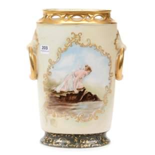 Vase Marked D & C Limoges Porcelain