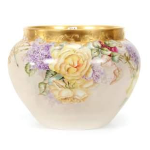 Jardiniere Marked D & C Limoges Porcelain