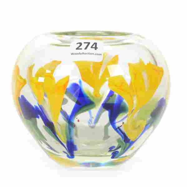 Paperweight Vase, Contemporary, Dated 1980