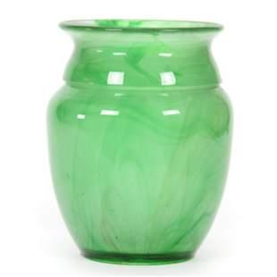 Vase, Unmarked British Art Deco Green Cloud Vase
