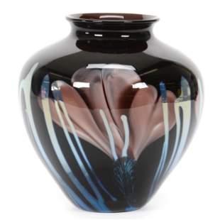 Vase, Contemporary Art Glass Signed Rick Satava