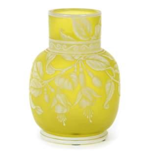 Vase Signed Gem Cameo Thomas Webb & Sons