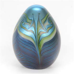 Paperweight, Contemporary, Signed Orient & Flume