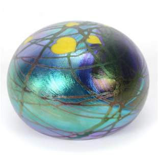 Paperweight, Contemporary, Signed Lundberg Studios