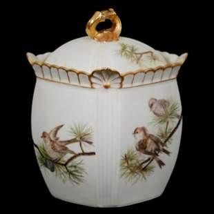 Biscuit Jar, Unmarked Limoges Porcelain