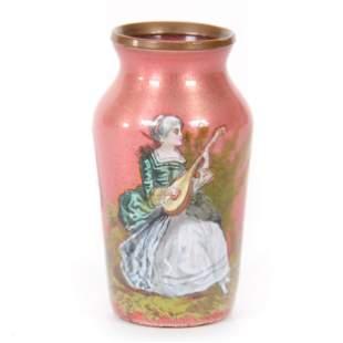 Miniature Vase, French Enamel