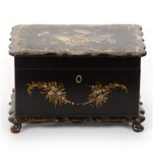 Box, Ebony And Abalone Tea Caddy