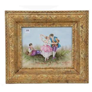 Plaque, Hand Painted French Porcelain