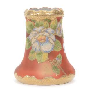 Vase, Japanese Coralene Porcelain