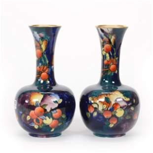 Pair Vases Marked Stoke On Trent Coronaware