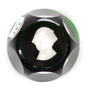 Paperweight Signed Baccarat Sulphide Limited Edition