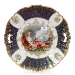 Cake Plate, Unmarked Prussia, Diana The Huntress