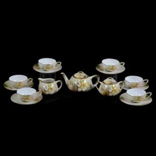 Tea Set Marked R.S. Germany, Nine Piece