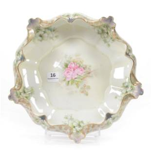 Bowl Marked R. S. Prussia, Lettuce Mold