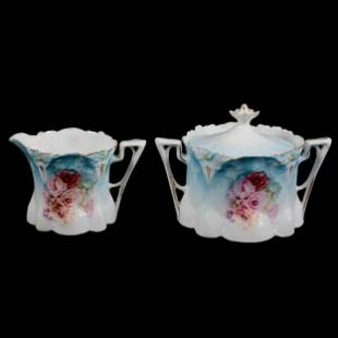 Creamer And Sugar Set Marked R. S. Prussia
