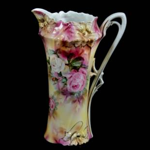 Tankard Marked R. S. Prussia, Carnation Mold