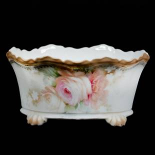 Footed Bowl Marked R. S. Prussia